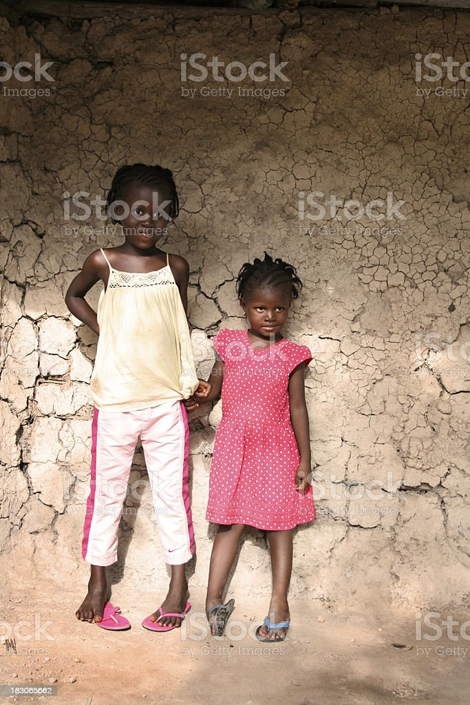 African Sisters stock photo