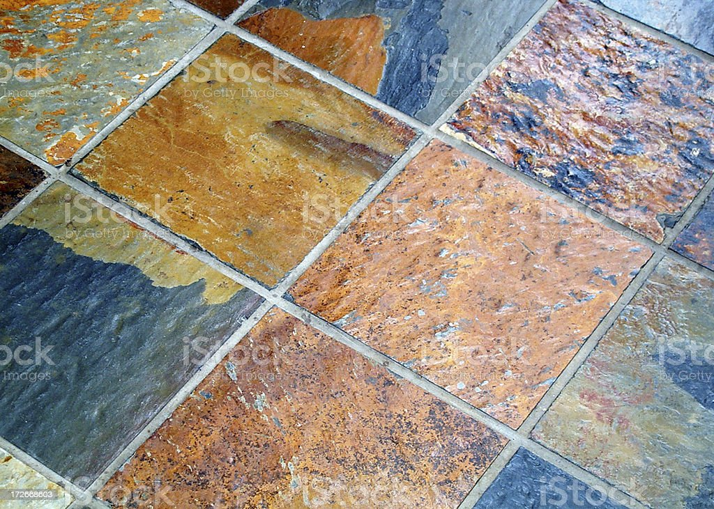 African Slate Floor royalty-free stock photo