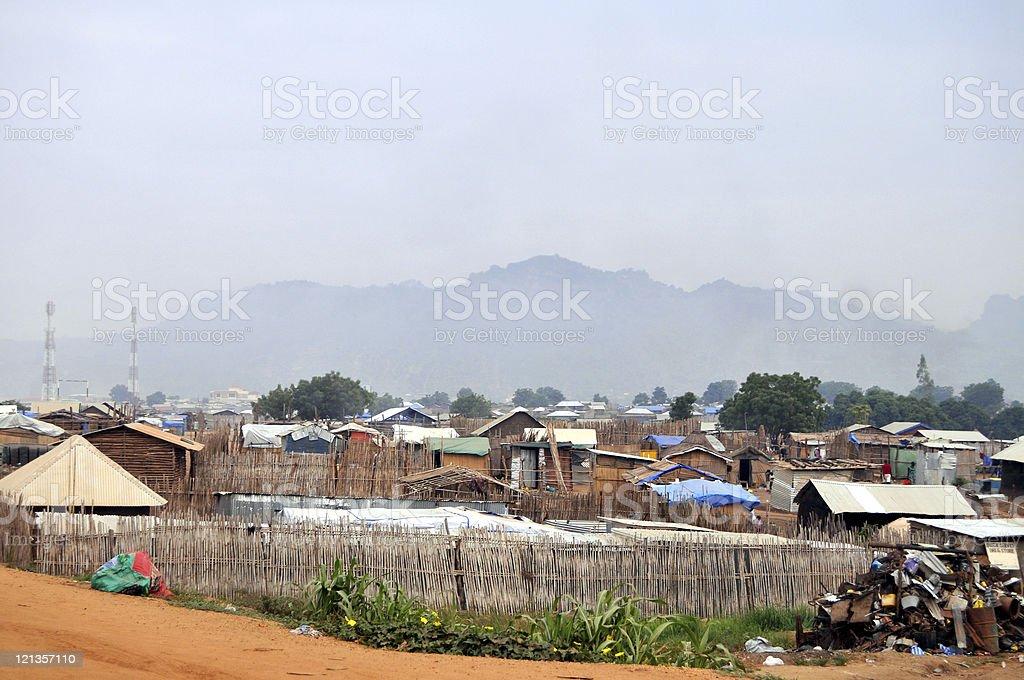 African slum stock photo