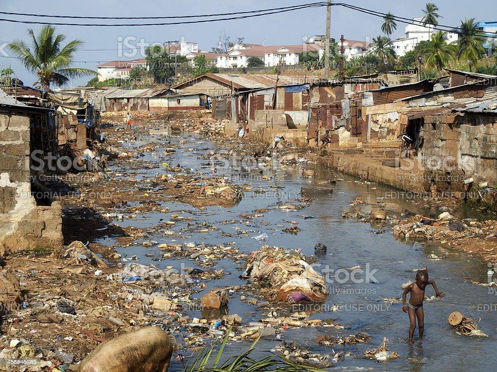 African Slum royalty-free stock photo