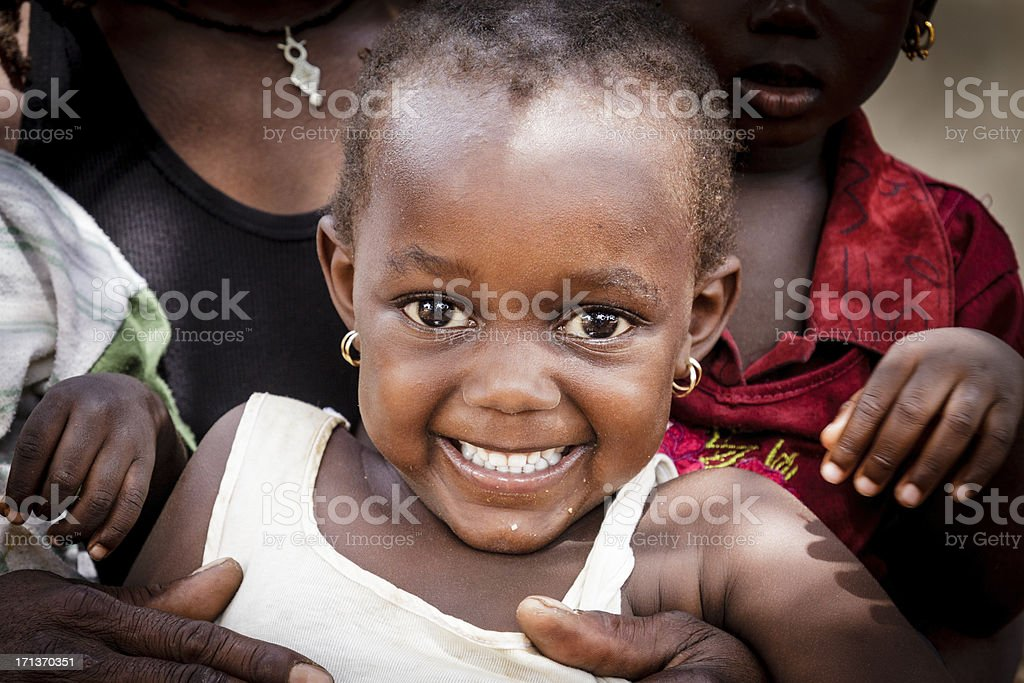 African smile stock photo