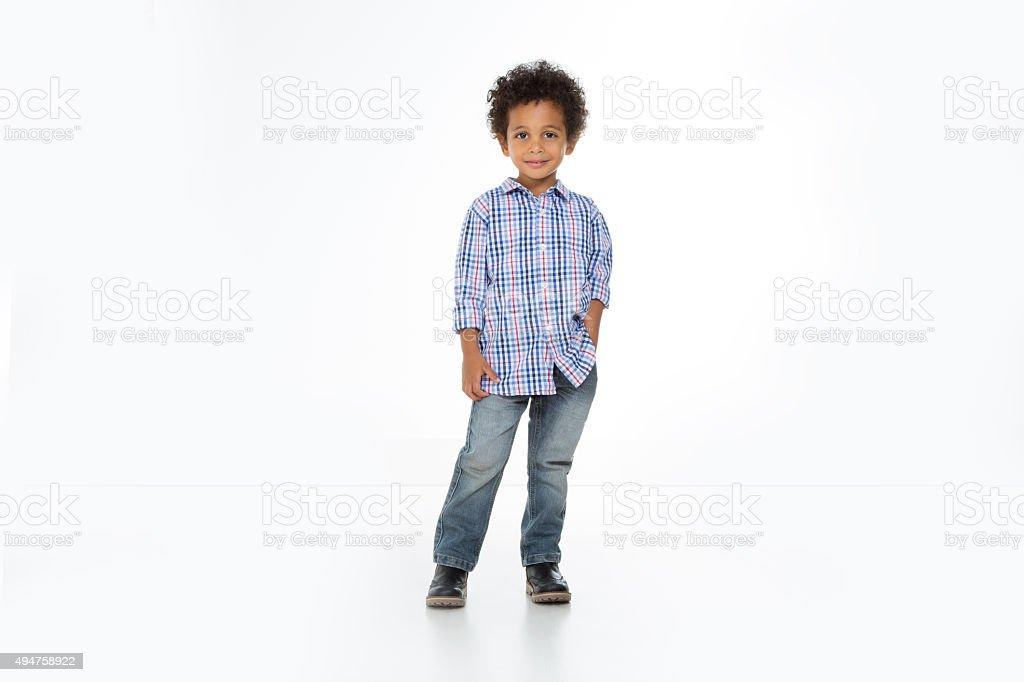 african smiley kid stock photo