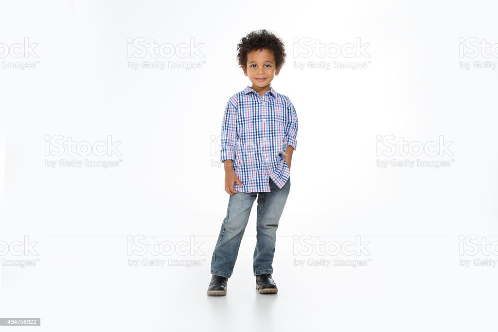 african smiley kid stock photo