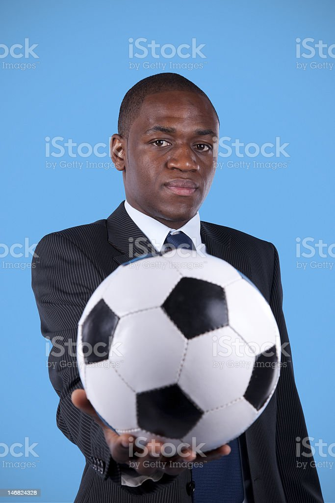 African soccer fan royalty-free stock photo