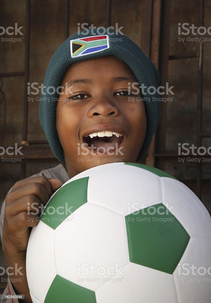 African soccer fan South Africa royalty-free stock photo