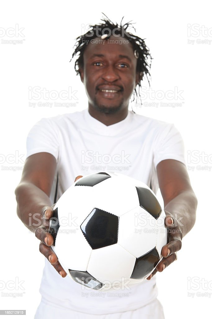 African Soccer Player - Focus Ball royalty-free stock photo