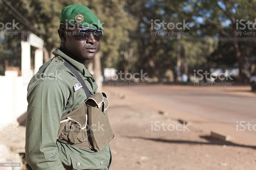 African soldier royalty-free stock photo
