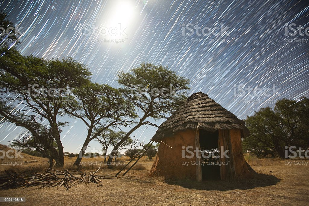 African Starry Night stock photo