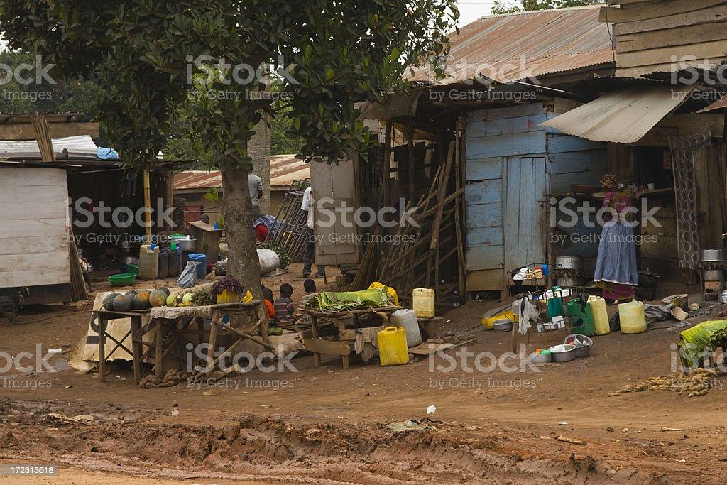 African streetlife in Uganda stock photo
