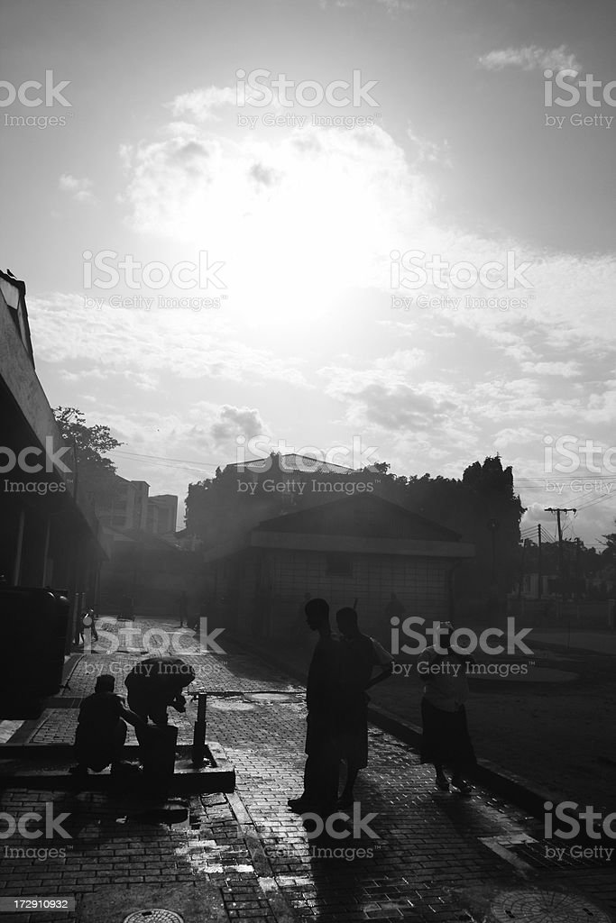 african streets royalty-free stock photo