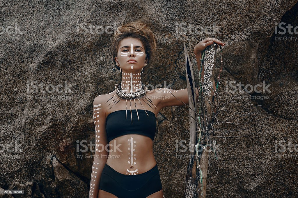 African style woman stock photo