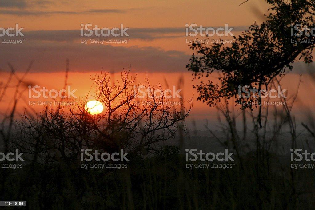African sunrise royalty-free stock photo
