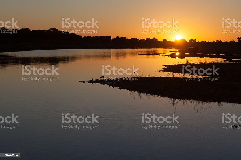 African sunset stock photo
