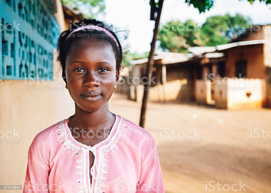 African teenager. stock photo