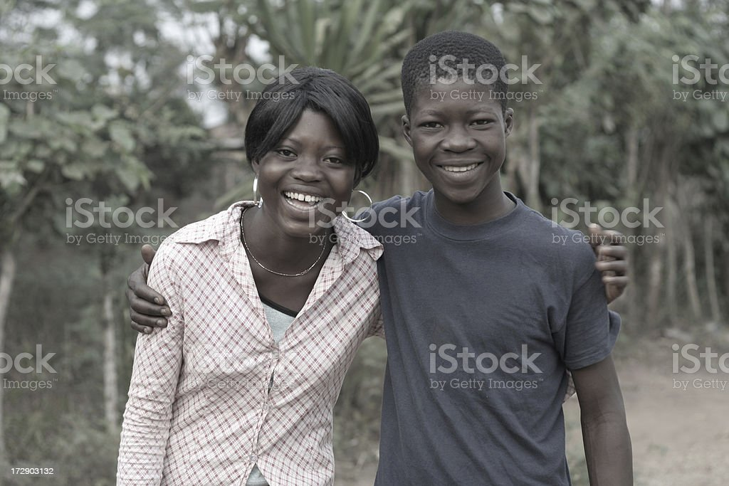 african teenagers stock photo