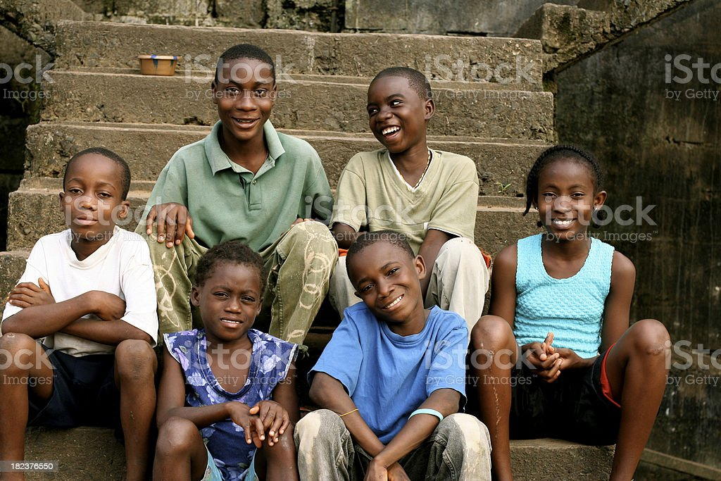 African Teens and Preteens royalty-free stock photo