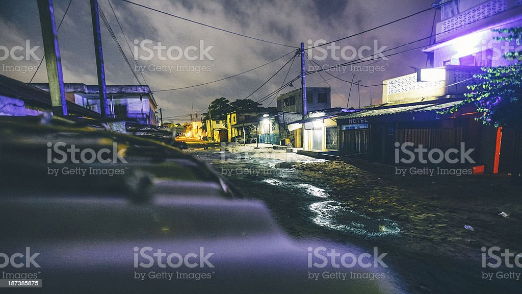 African town alleys. stock photo