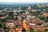 African town. Dassa-Zoume, Benin.