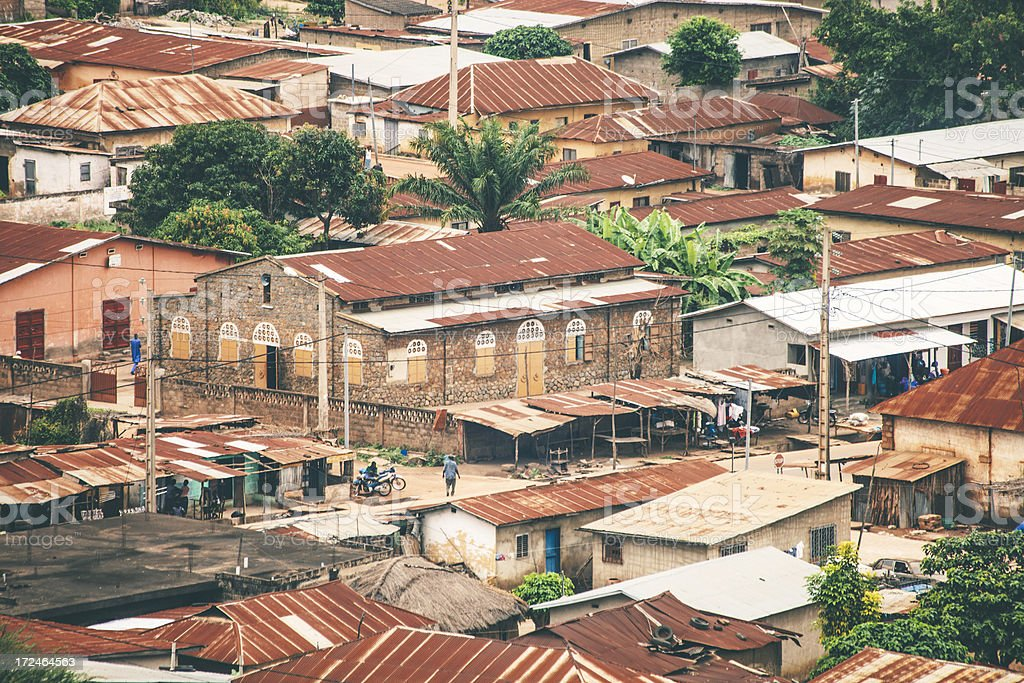 African town. royalty-free stock photo