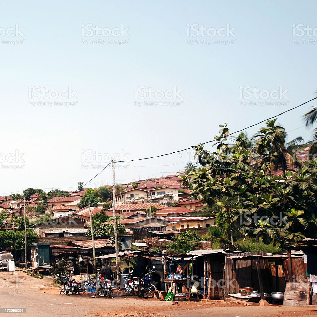 african town stock photo