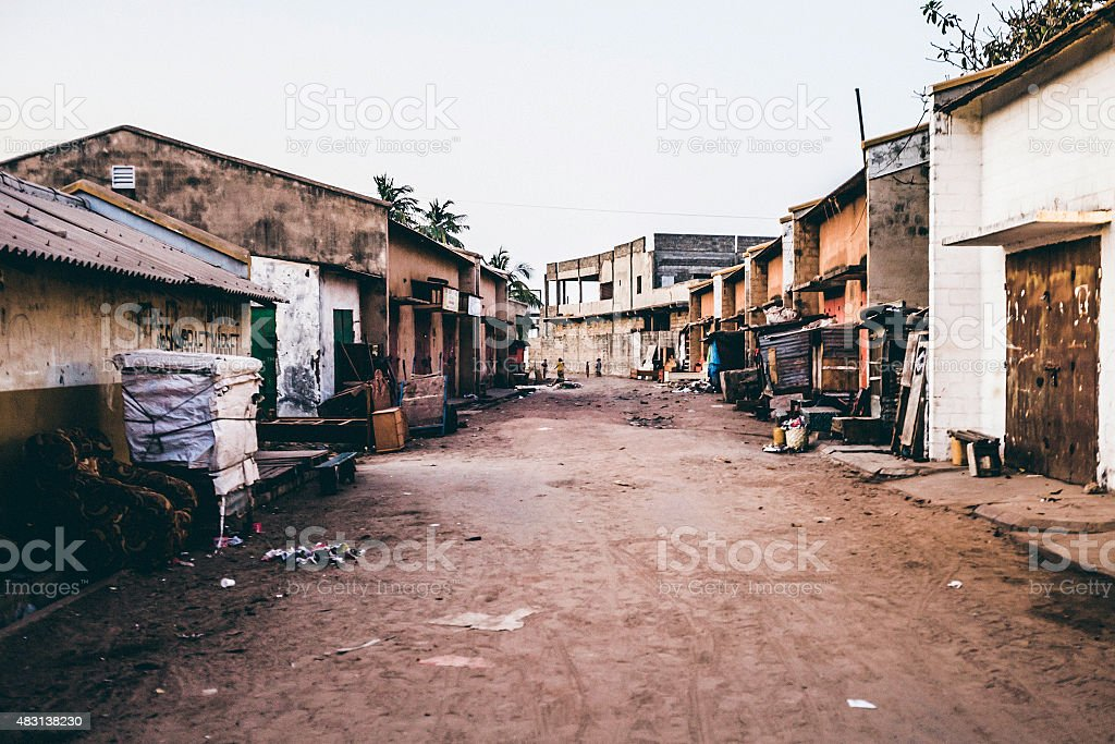 African town streets. stock photo