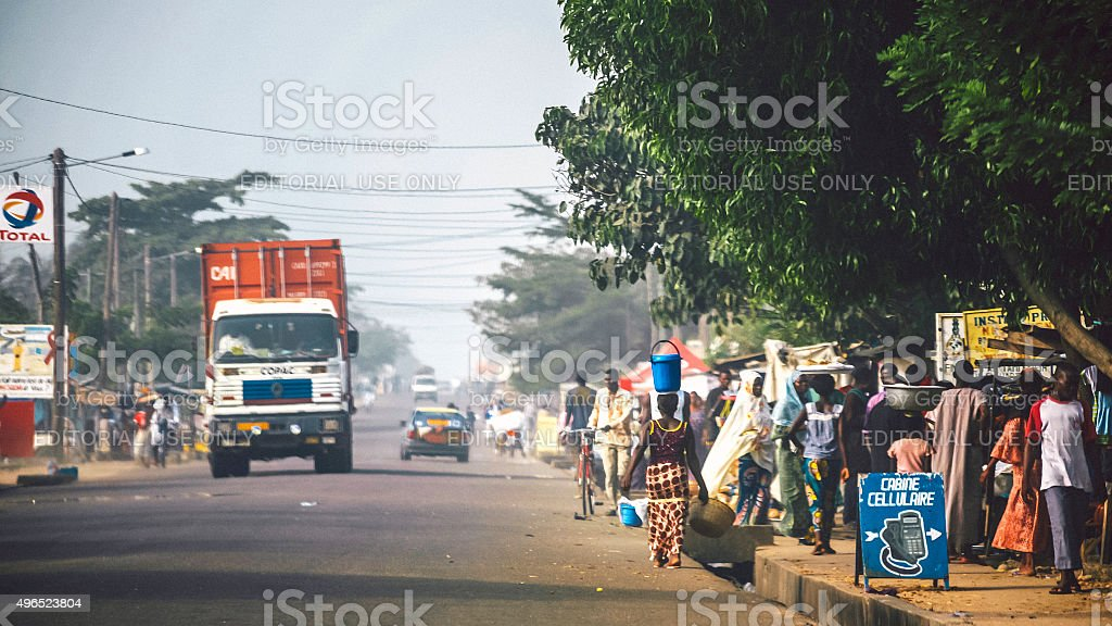 African town, Togo. stock photo