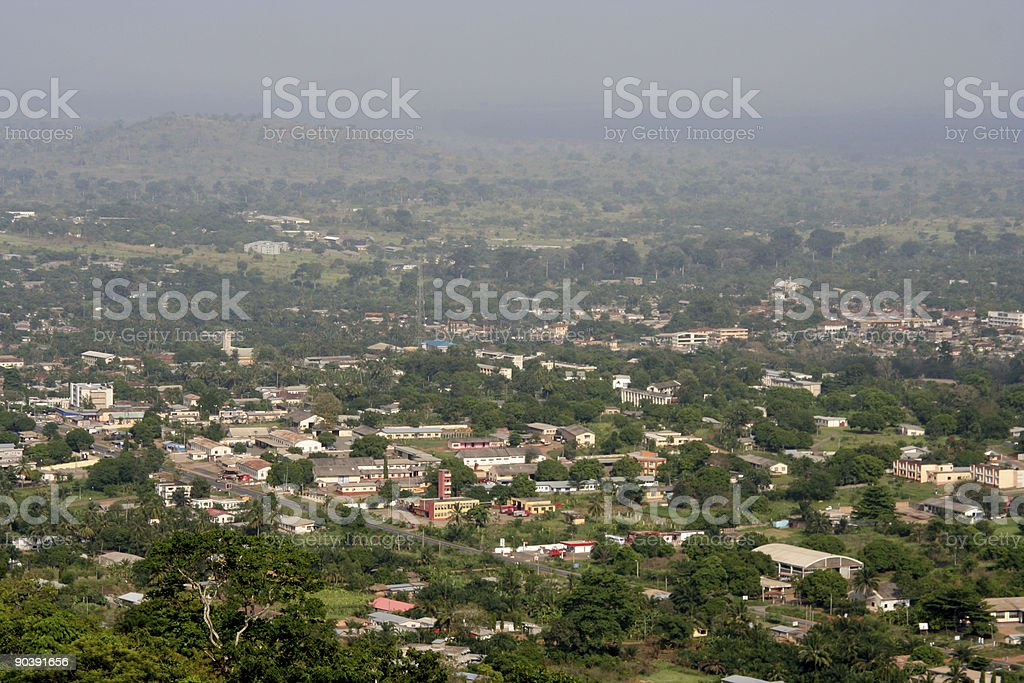 african town view stock photo