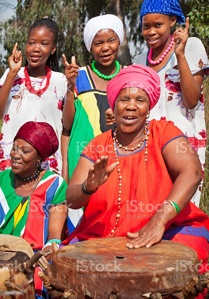 African traditional musical group stock photo