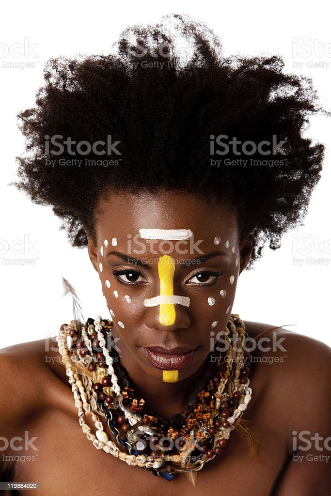 African Tribal beauty face royalty-free stock photo