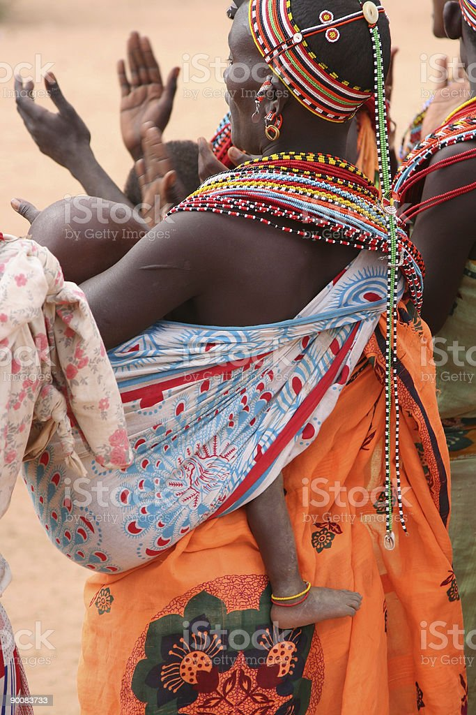 African Tribal Dance royalty-free stock photo