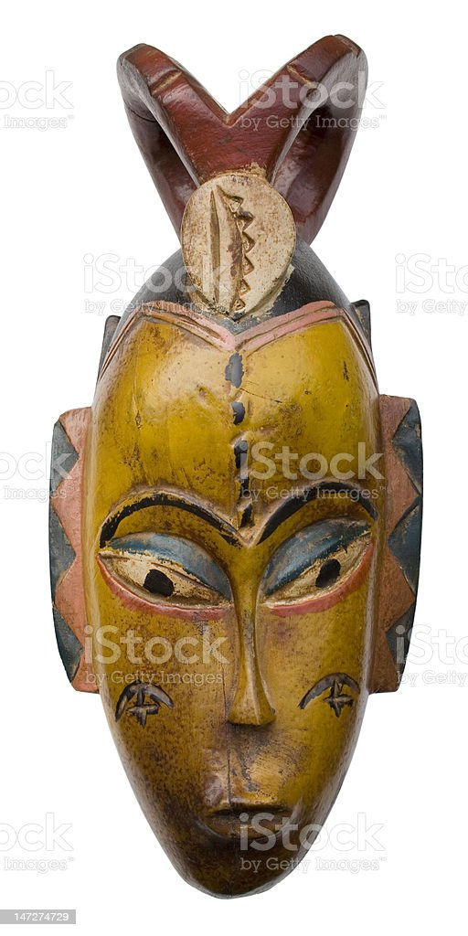 African Tribal Mask royalty-free stock photo