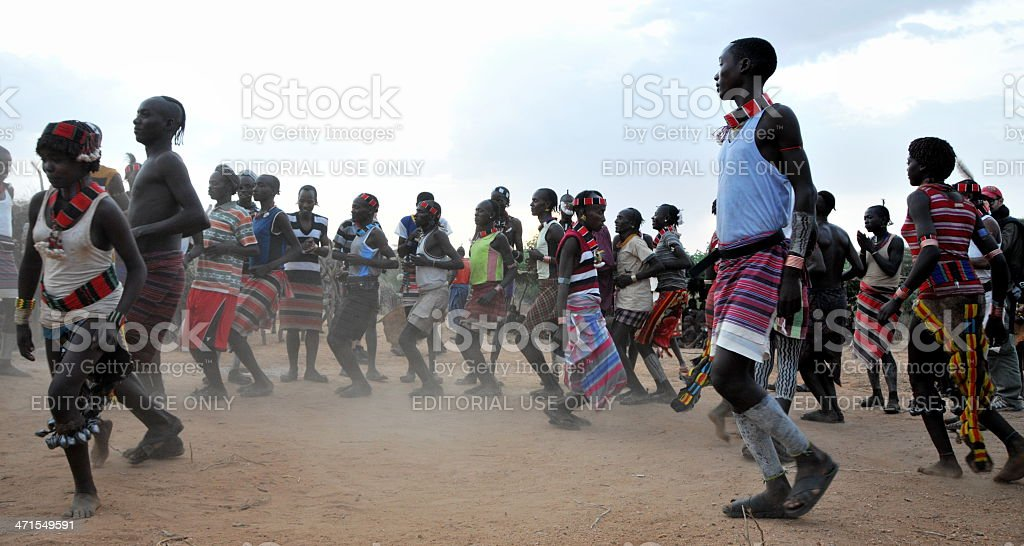 African tribal people royalty-free stock photo