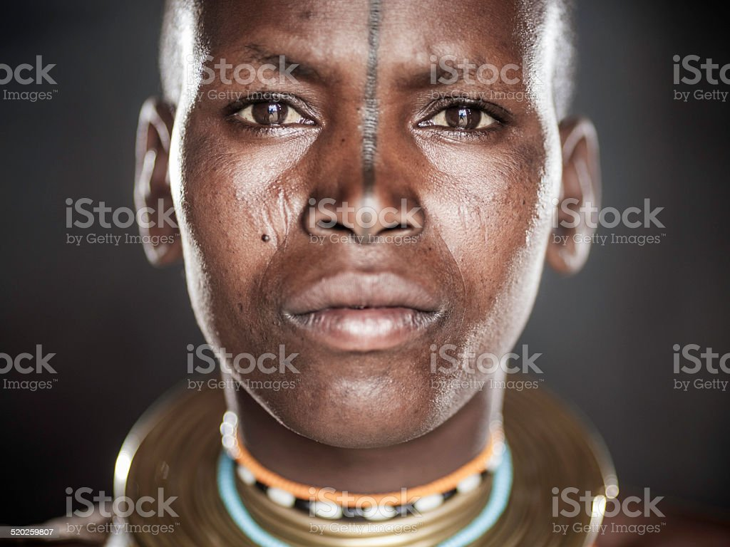 African Tribal Portrait stock photo