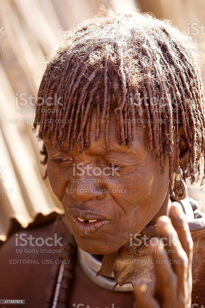 African tribal woman royalty-free stock photo