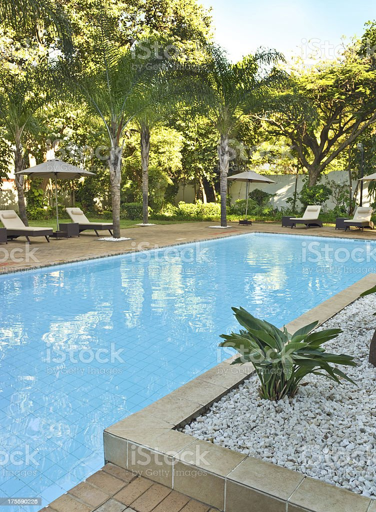 African Tropical Resort stock photo