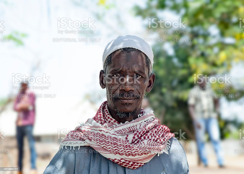 african village chief stock photo