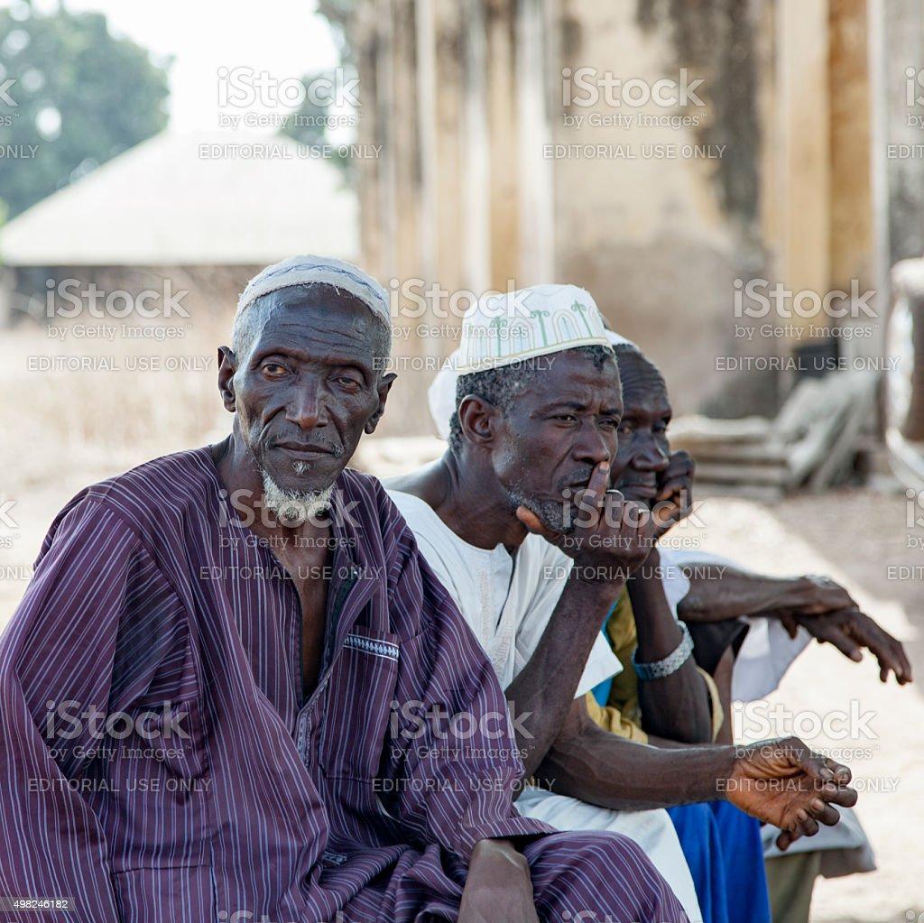 african village elders stock photo