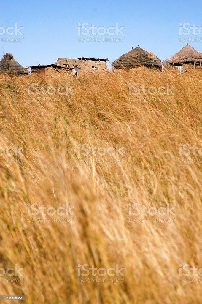 African Village Horizon stock photo