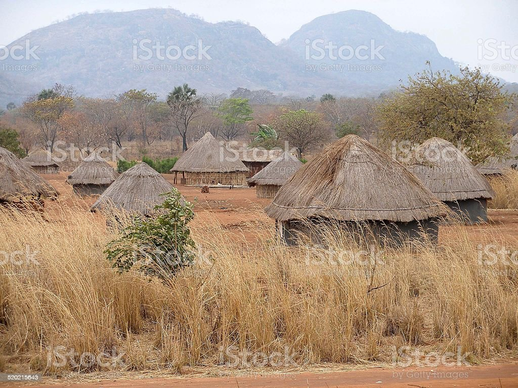 African village in Mozambique stock photo