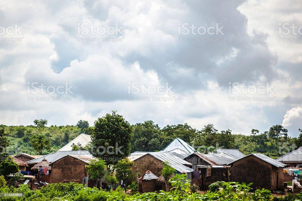African village near Abuja, Nigeria. stock photo