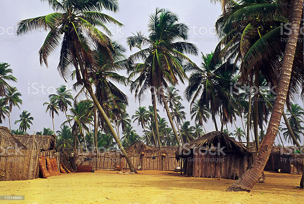 african village near the ocean royalty-free stock photo