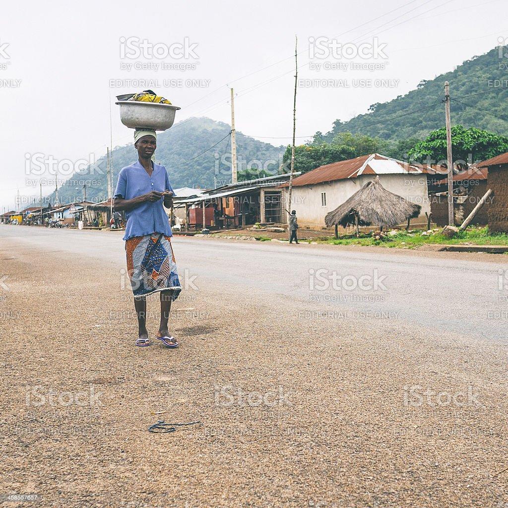 African village. stock photo