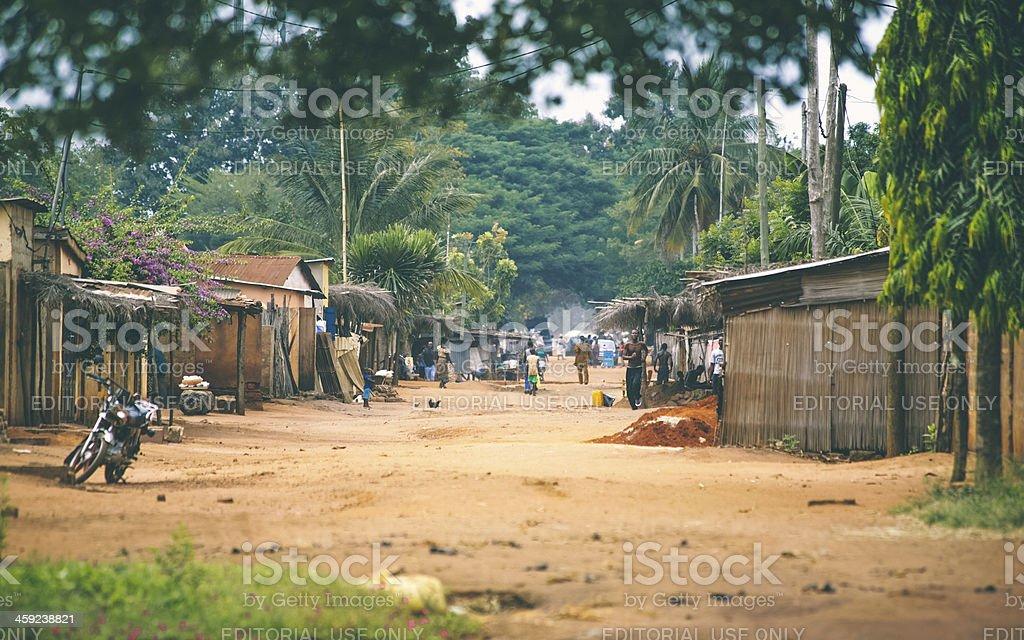 African village scene. stock photo