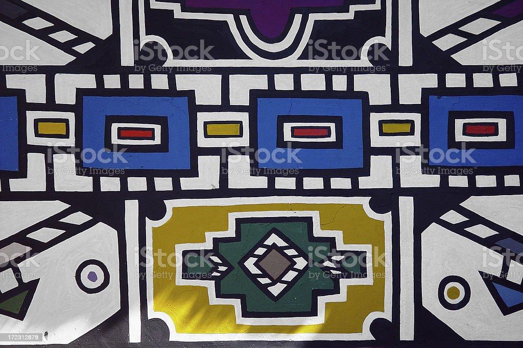 African wallpainting stock photo