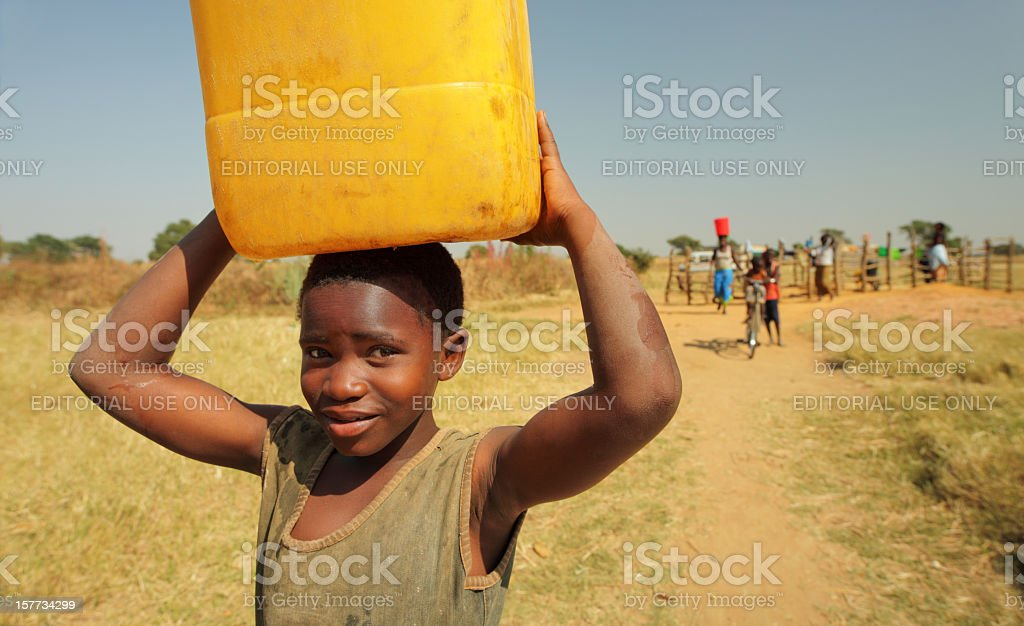 African water Lady stock photo