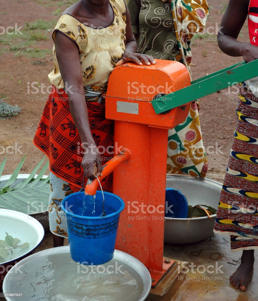 African Well Water royalty-free stock photo