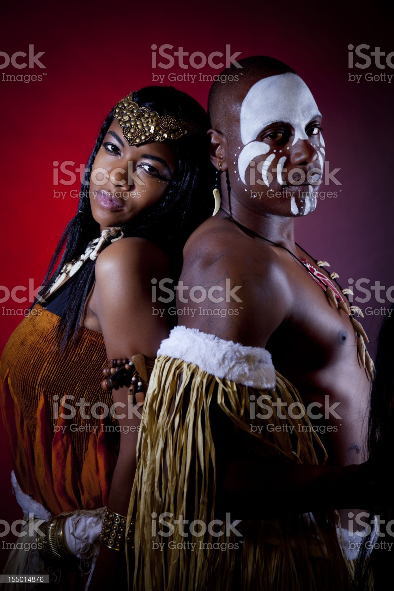 African witch doctor and healer royalty-free stock photo