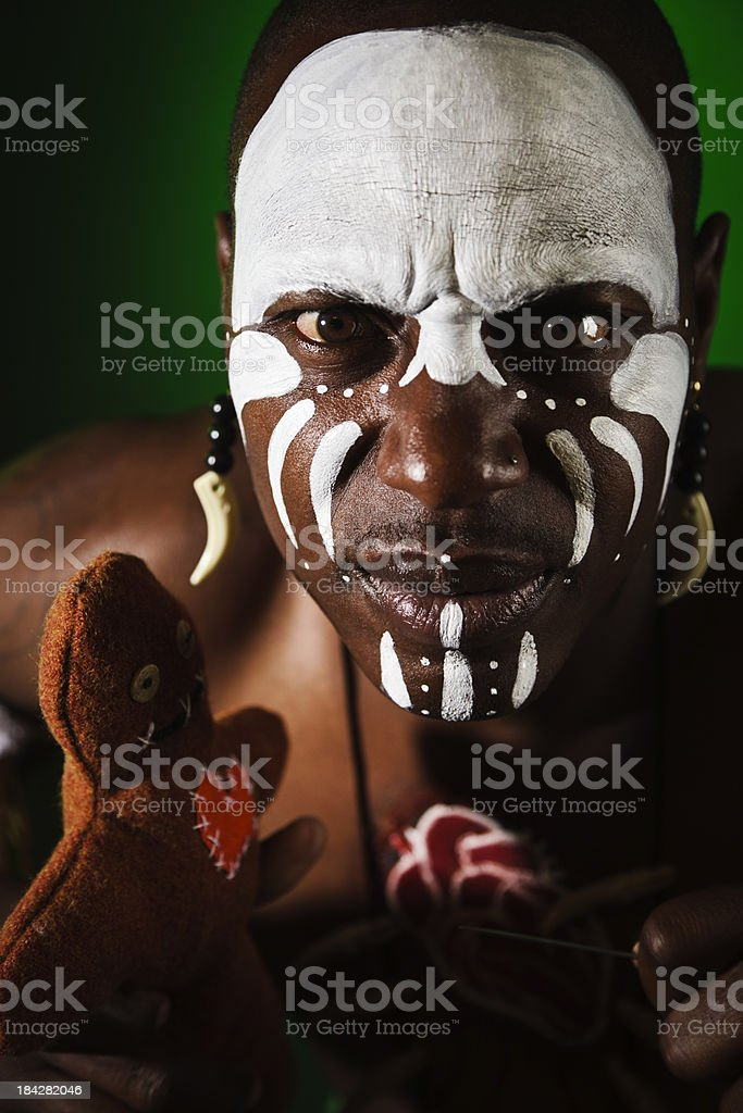 African Witch Doctor stock photo
