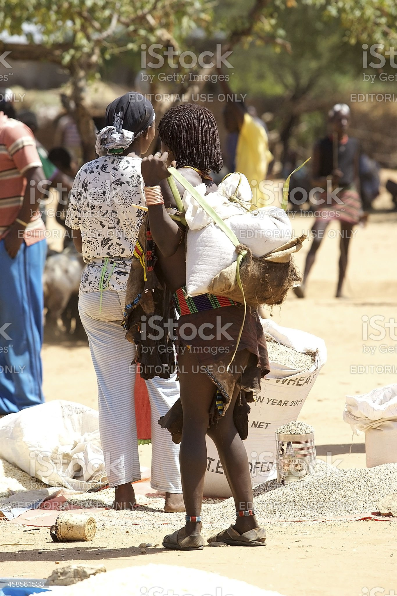 African woman at the market royalty-free stock photo