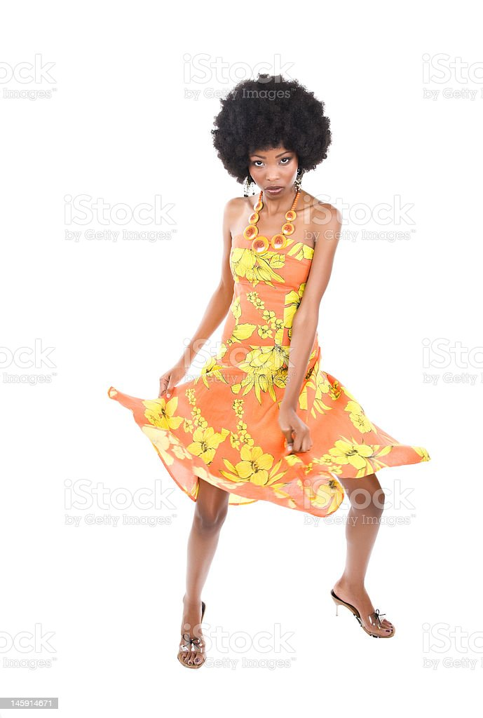 African woman dancing royalty-free stock photo